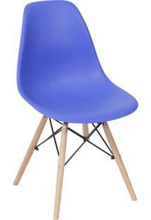 Cadeira Eames Dkr- Azul Escuro & Madeira Escura- 80,Or Design