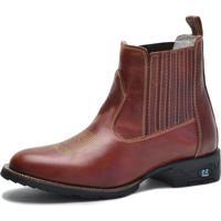 a32b014033b9c Bota Country Over Boots Bico Redondo Couro Vermelho Escuro
