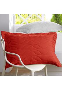 Porta Travesseiro Altenburg All Design New Poli'Ster Rebu- Vermelho50Cm X 70Cm Vermelho