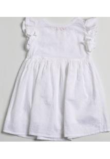 Vestido Infantil Babado Laise Manga Curta Marisa