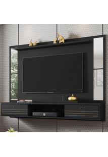 Painel Para Tv Até 60 Polegadas Ametista 2 Portas Preto Fosco - Móveis Bechara