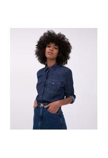 Camisa Jeans Básica | Blue Steel | Azul | Gg