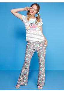 Pijama Visco Coruja Summer