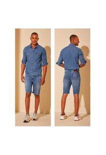 Bermuda Jeans Lee Daren T400 Azul Tam. 44
