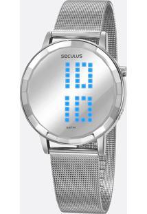 Relógio Feminino Digital Led Mondaine 77063L0Svns4