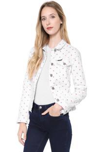 Jaqueta Sarja Calvin Klein Jeans Color Branca