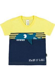 Camiseta Bebê Menino Meia Malha - Masculino-Verde