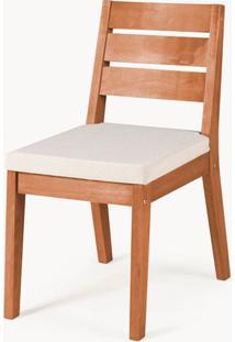 Cadeira Assento Estofado Fortaleza Stain Jatoba - 35426 - Sun House