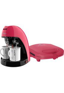 Kit Cadence Colors Rosa Doce - Cafeteira E Sanduicheira - 220V