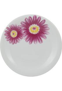 Prato Sobremesa Porcelana Schmidt - Dec. Gérbera