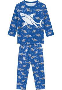 Pijama Infantil Masculino Azul