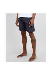 Bermuda Surf Masculina Com Bolso Cinza Mescla Escuro