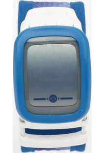 Relógio Digital Listrado Suvw102A- Azul & Branco- Swswatch