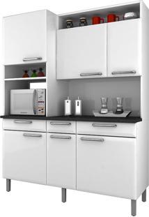Cozinha Compacta Com 6 Portas E 3 Gavetas Regina – Itatiaia Aço - Branco
