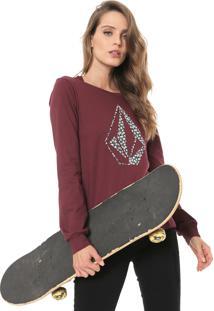 Camiseta Volcom Daisy For You Vinho