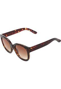 Óculos De Sol Marielas Tartaruga Cjh72106 Feminino - Feminino-Marrom
