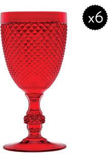 Jogo De Taças Multiuso- Vermelho- 6Pçs- 350Mlbon Gourmet