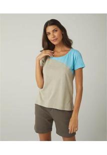 Camiseta Feminina Sidewalk Fabi - Feminino-Bege
