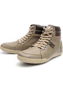 Bota Casual Shoes Grand Confortável Creme