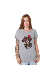 Camiseta Butterfly Girl Cinza Stoned