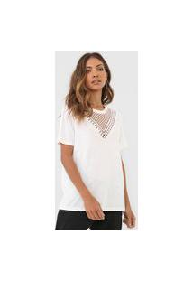 Camiseta Desigual Tropic Toughts Off-White