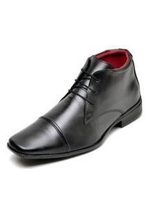 Sapato Social Masculino Cano Alto Top Flex Preto