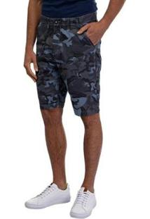 Bermuda Sarja Masculina - Masculino-Azul
