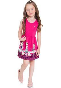 Vestido Infantil Menina Rosa