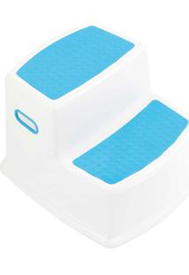 Banquinho De Banheiro 2 Degraus Azul