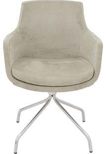 Cadeira Giratoria Liss Beige - 57X55X84