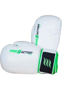 Luva De Boxe Proaction F010 12Oz Branca