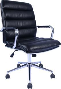 Cadeira De Escritório Diretor Suíça Preta