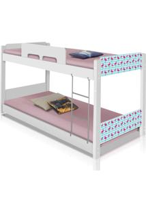 Beliche Baixa Adesivada Flamingos Casah - Branco/Multicolorido - Menina - Dafiti