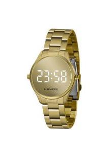 Relógio Feminino Lince Mdg4617L-Bxkx Digital   Lince   Dourado   U