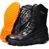 1b84b44ef5 Bota Atron Shoes Militar Cano Médio Ziper Preta