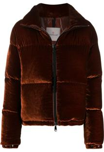 Moncler High-Neck Padded Jacket - Marrom