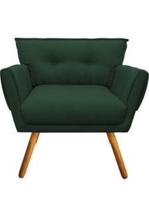 Poltrona Decorativa Anitta Linho Verde A49 - D'Rossi