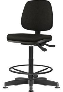 Cadeira Job Assento Courino Base Caixa Metalica Preta - 54537 Sun House