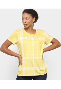 Camiseta Lança Perfume Estampada Feminina - Feminino-Xadrez