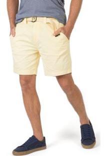 Bermuda Taco Chino Flex Cinto Masculino - Masculino-Amarelo