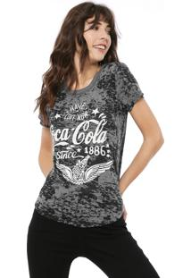 Camiseta Coca-Cola Jeans Devorê Cinza