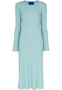 Simon Miller Wells Ribbed Knit Midi Dress - Azul