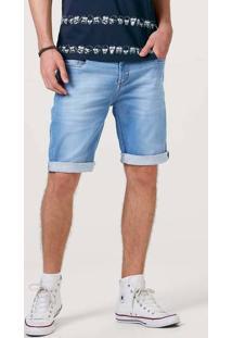 Bermuda Jeans Moletom Masculina Slim