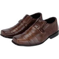 73be563e3 Sapato Social Infantil Leoppé Gravata De Metal Confortável -  Masculino-Marrom