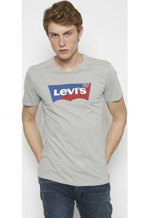 "Camiseta ""Levi'Sâ®"" - Cinza & Vermelhalevis"