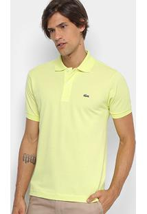 da75637142440 Camisa Polo Lacoste Piquet Original Masculina - Masculino-Verde Limão