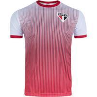 7d81f66958ebb Camiseta Do São Paulo Stripes 19 - Masculina - Branco/Vermelho