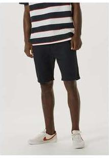 Bermuda Masculina De Sarja Com Cadarço Preto