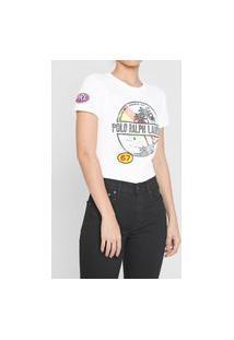Camiseta Polo Ralph Lauren Estampada Branca