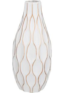 Vaso Decorativo Udyr Branco 17 Cm